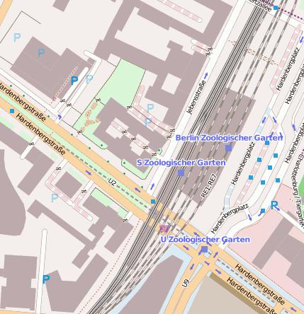 Berlin Zoologischer Garten S-Bahn Bahnhofsanlage - 10623 Berlin