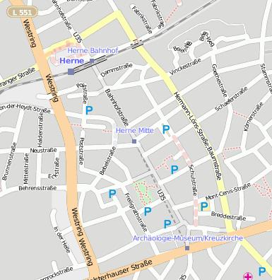 Herne Karte Stadtteile.Herne Westfalen Herne Mitte