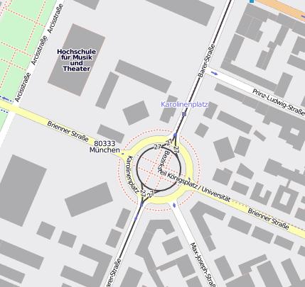 Karolinenplatz 80333 München Maxvorstadt