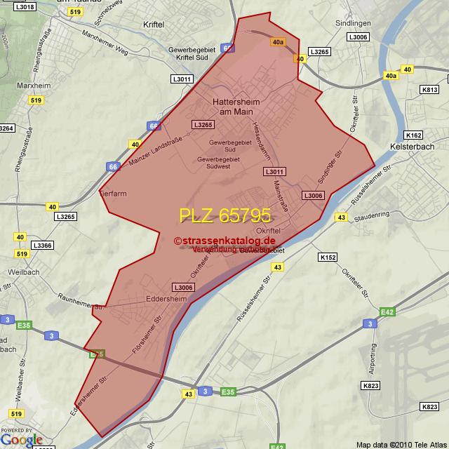 Postleitzahl Hattersheim