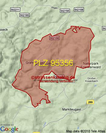 Postleitzahlgebiet 95356 - PLZ